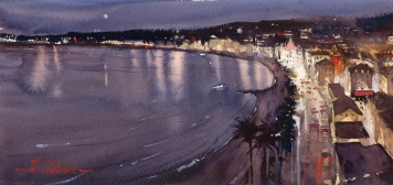 Ron Stocke_med_Moonlight Over Nice_7x14_595