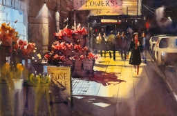 RonStocke_MarketFlowers_14x21_watercolor